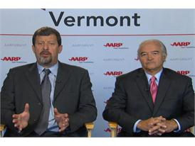 Attorney General of Vermont William H. Sorrell and State Director of AARP Vermont Greg Marchildon