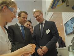 "French Minister Hails ""Extremely Impressive"" Hanover Tech"