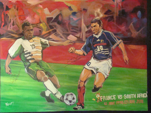 FIFA 2010 WORLD CUP ADIDAS FRANCE VS SA PAINTING JUNE 21