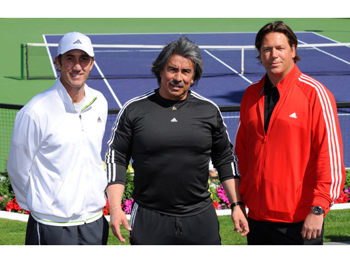 Image : Darren Cahill, Gil Reyes and Sven Groeneveld, adidas Player Development Coaches