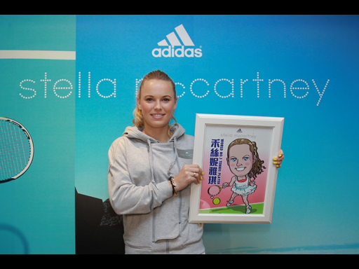 Image : Caroline Wozniacki, Tennis Player (Denmark) - World No. 1 on WTA Tour