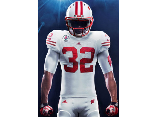 Image : Wisconsin adidas Rose Bowl Uniform