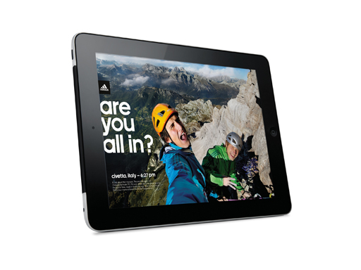 adida Outdoor magazine for the iPad