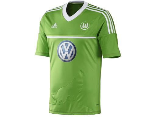 Das neue Wolfsburger Heimtrikot von vorne