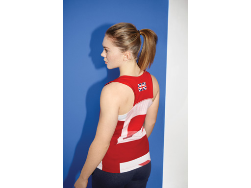 Image : Jess Varnish in Team GB Villagewear