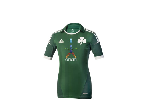 PAO FC - 2012-13 home kit - Techfit front