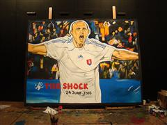 Own the moment: this painting of FIFA 2010 WORLD CUP ADIDAS THE SHOCK PAINTING JUNE 24