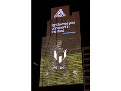 adidas Lights Up New York with Massive Projection of Soccer Superstar Lionel Messi