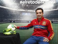 adidas presenta a Xavi Hernández en su campaña de fútbol durante COPA CONFEDERACIONES 2013