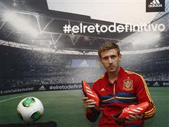 adidas presenta a Nacho Monreal en su campaña de fútbol durante COPA CONFEDERACIONES 2013