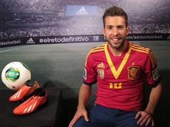 adidas presenta a Jordi Alba en su campaña de fútbol durante COPA CONFEDERACIONES 2013