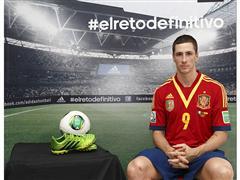 adidas presenta a Fernando Torres en su campaña de fútbol durante COPA CONFEDERACIONES 2013
