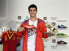 """Álvaro Morata ha presentado el trofeo """"adidas Golden boot"""""""