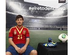 adidas presenta a David Silva en su campaña de fútbol durante COPA CONFEDERACIONES 2013