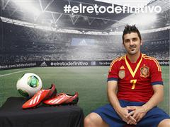 adidas presenta a David Villa en su campaña de fútbol durante COPA CONFEDERACIONES 2013