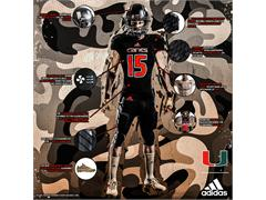 The University of Miami & adidas Unveil New 'Military Appreciation Day' Alternate Football Uniforms