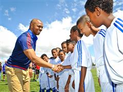 adidas SA Invites Quinton Fortune to His Community in Cape Town