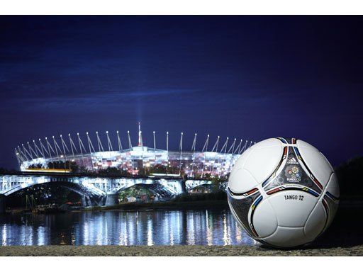 Image : adidas Tango 12 outside the National Stadium in Warsaw