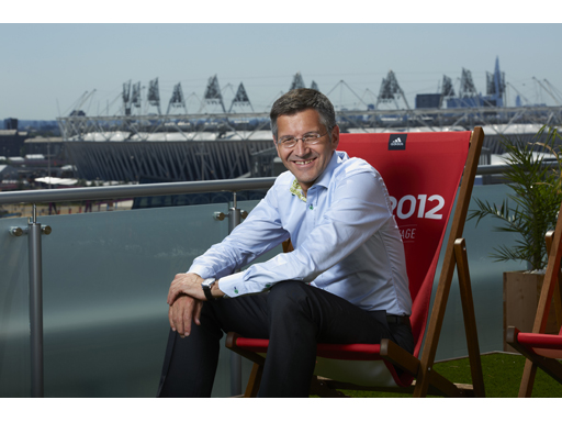 Image : Herbert Hainer, CEO of the adidas group, at the adidas London 2012 Lounge
