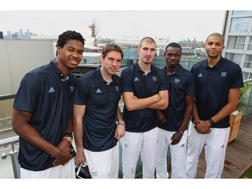 Image : French Basketball squad visits adidas London 2012 Media Lounge