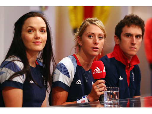 Image : Victoria Pendleton, Laura Trott and Geraint Thomas
