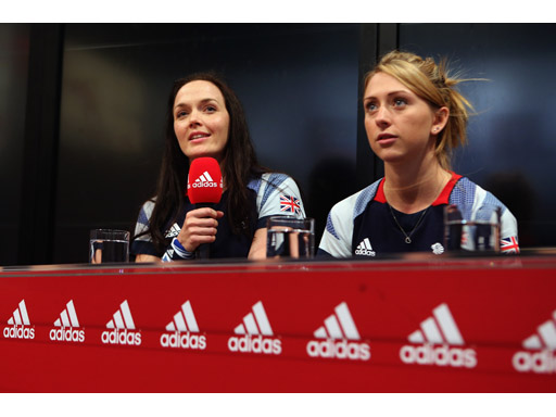 Image : Victoria Pendleton and Laura Trott