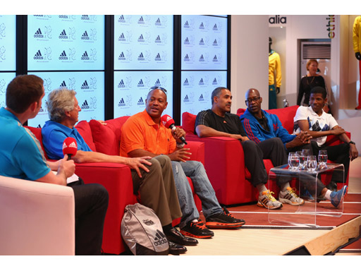 Image : Dick Fosbury, Maurice Greene, Daley Thompson, Edwin Moses, Haile Gebrselassie Q&A session