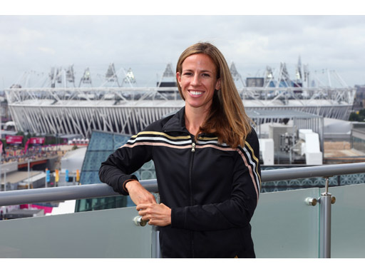 Image : Morgan Uceny at the adidas London 2012 media Lounge
