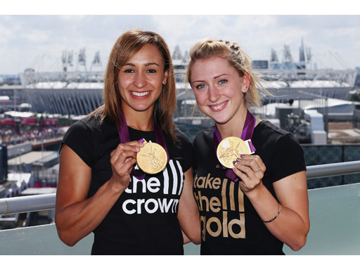 Image : JESS ENNIS & LAURA TROTT AT THE ADIDAS LONDON 2012 MEDIA LOUNGE
