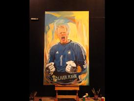 FIFA 2010 WORLD CUP ADIDAS GOLDEN GLOVES PAINTING-2 JUNE 23