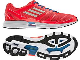 The adizero Feather (men's), the lightest everyday running shoe.
