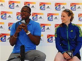 Dayron Robles (CUBA 110m hurdles) and Silke Spiegelburg (GER Pole Vault)