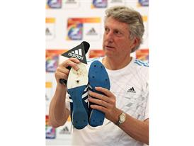 Dick Fosbury with his historic shoes