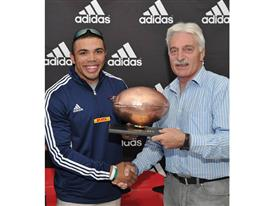 Bryan Habana presented with an adidas Golden Ball