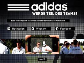 Homepage of news.adidas.com/dfb