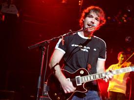 David Feito durante el concierto