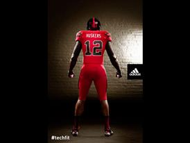 Nebraska TECHFIT Uniform Back