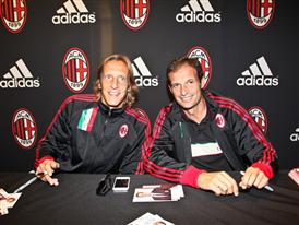 AC Milan midfielder Massimo Ambrosini and manager Massimiliano Allegri