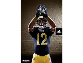 adidas Notre Dame Unrivaled Uniform Gloves