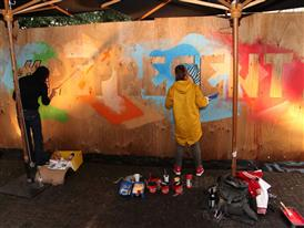 Klub 7 Crew live Painting 1