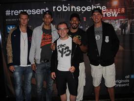 Badstuber mit FC Bayern Basketball Crew