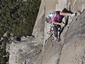 Mayan Smith-Gobat leading on The Nose, El Capitan