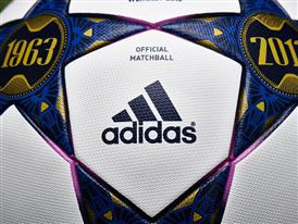 Close up of the adidas Wembley Finale official match ball