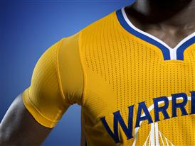 Golden State Warriors adidas Jersey Close-Up 1
