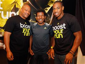 Maurice Greene, Halie Gebrselassie and Yohan Blake