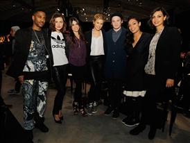 Left to Right: Rapper Big Sean, Actresses Phoebe Tonkin, Nikki Reed, Maggie Grace, Actor Anton Yelchin and Actresses...