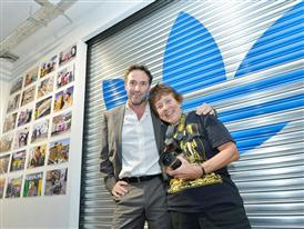 Marketing Director of adidas South Africa Winand Krawinkel with Martha Cooper at the launch of AREA3