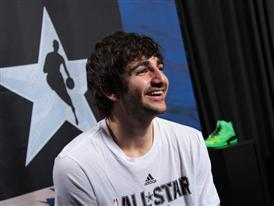 Ricky Rubio of Minnesota Timberwolves at adidas VIP Suite 1