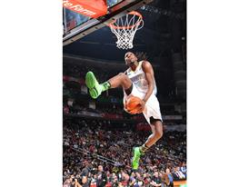 Kenneth Faried of Denver Nuggets at Slam Dunk Contest