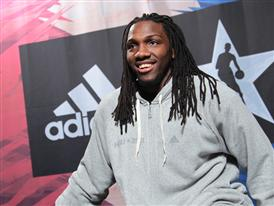 Kenneth Faried of Denver Nuggets at adidas VIP Suite 1